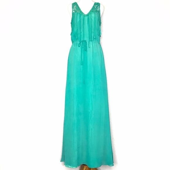 Calypso St. Barth Dresses & Skirts - Calypso St. Barth Green Silk Maxi Dress A150739